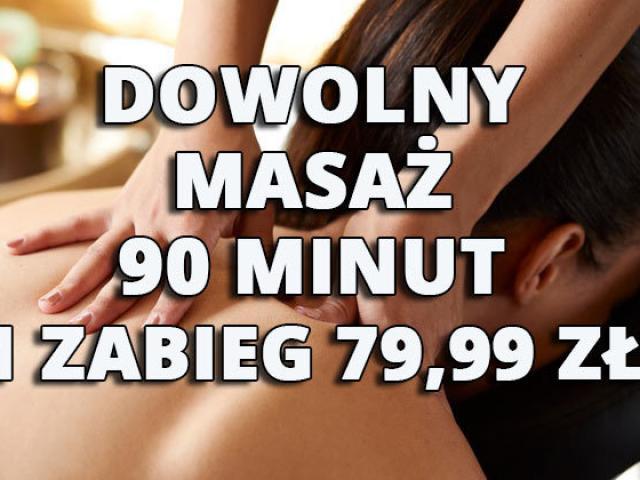 Dowolny masaż 90 minut - 1 zabieg 79,99 zł - 1/1